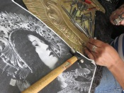 An artist we visited on the Free Walking Tour