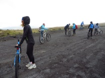 Biking down Cotapaxi