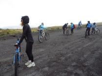 Biking down Cotapaxi